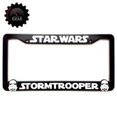 Desert Storm Raised Letters Chrome License Plate Frame