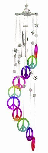 Spoontiques Peace Sign Acrylic Wind Chime by Spoontiques, Inc, http://www.amazon.com/dp/B00B8OVKME/ref=cm_sw_r_pi_dp_NU4csb02F4VHB