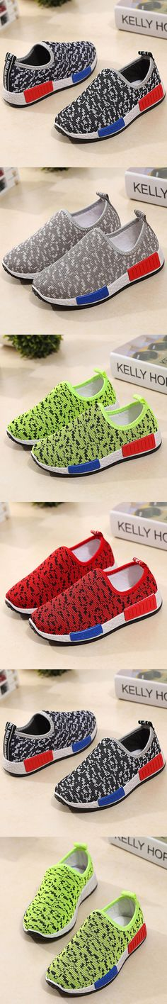 T 2016 New Kids Shoes Boys Fashion Shoes Breathable Girls Casual Running Shoes Help Low Flat Children Sneakers 26-36