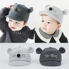 b34911c2c32 2017 New Hot Sell Spring Infant Hat Autumn Caps Kids Baby Bunny Rabbit  Visor Baseball Cap Cotton Peaked Hat lowest price