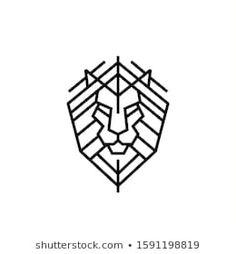 Vector de stock (libre de regalías) sobre Lion Head Logo Vector Design Template1591198819