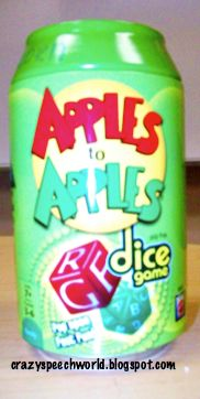 Crazy Speech World: Game Day...Apples to Apples!