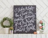 O Holy Night Canvas have @Kelly Williams make this!