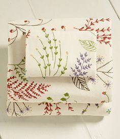 ll bean ultrasoft comfort flannel sheet set botanical floral - Flannel Sheets Queen