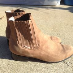Real suede booties These are botines charros made in Mexico and really high quality. These are like the popular booties with the stretch sides being worn but they're the real deal! Quizar Botines Shoes Ankle Boots & Booties