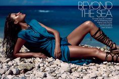 Beyond the Sea   Photographer: Chris Nicholls  Model: Bekah Jenkins  Fashion editor: Elizabeth Cabral  Hair & makeup: Simone Otis