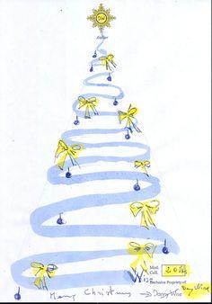 Anche a Natale cuciamo per Te qualcosa di speciale ,  un Albero DANNY WISE Haute Couture : Tulle rosa fard , Crepe de chine Plisse mirtillo , dei festoni nastro doppio raso rosa francia ,dei boccioli di rosa in seta dello stesso colore , qualche piuma di struzzo bianca, un diamante 3 Kr., per Stella Cometa il nostro Logo ; il tutto a fatto a mano per te.  Buon Natale , Caldo . Raffinato, Elegante  firmato Danny Wise