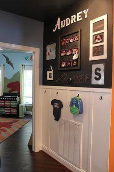 a kid s hallway for chalkboard paint, foyer, painting, wall decor Large Chalkboard, Chalkboard Paint, Chalk Paint, Chalkboard Wall Bedroom, Guest Bedroom Decor, Bedroom Wall, Wood Plank Walls, Bookshelves Kids, Board And Batten