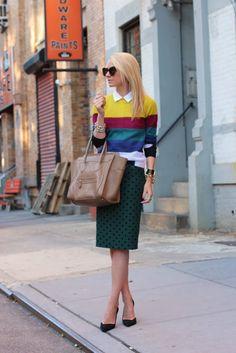 green black polka dots, colorful stripes