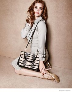 Amy's Max Mara Ads--December Vogue cover girl Amy Adams continues to make her mark in fashion by starring in the spring-summer 2015 accessories campaign fr