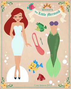 Disney Paper Dolls | Just Lia