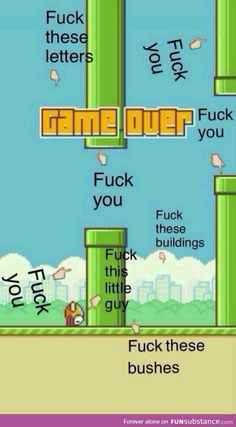 Pretty much how I feel about this game. Damn you flappy bird Word Games For Kids, Youth Games, Games For Teens, Backyard Carnival, Flappy Bird, Going Insane, Drive Me Crazy, Belly Laughs, How I Feel