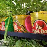Retro PlayDoh Pots Herb Planters