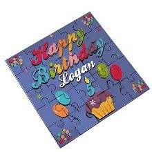 Cute--Happy Birthday puzzle with child's name and age. Kids will enjoy putting such a sentimental puzzle together. Cute Happy Birthday, Top Gifts, Kid Names, Birthday Cards, Birthday Gifts, Gifts For Kids, Boy Or Girl, Jigsaw Puzzles, Personalized Gifts