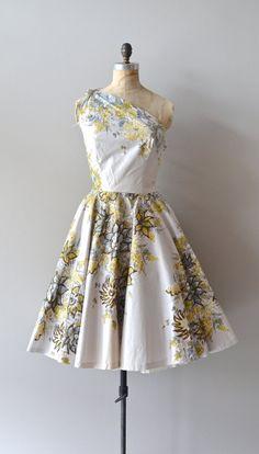 1950s dress / strapless 50s dress / Tivoli Gardens by DearGolden, $325.00