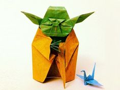 Monday morning wisdom from Yoda: Do, or do not. There is no try. (Origami design by @yoyoferro.)