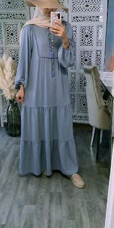 Hijab Fashion Summer, Abaya Fashion, Modest Fashion, Fashion Dresses, Hijab Fashion Inspiration, Mode Inspiration, Hijab Evening Dress, Moslem Fashion, Hijab Style Dress