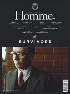 Homme, April 2012, #layout #magazine #editorial #cover