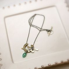 Handcrafted sterling silver and gemstone necklace by jihidesigns