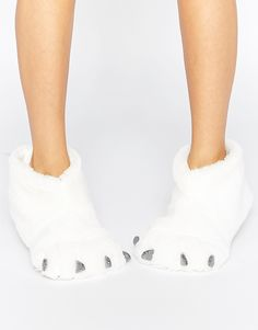 Image 1 of New Look Fluffy Big Foot Slippers