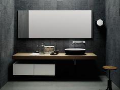 Piano lavabo in legno in stile moderno FLYER   Piano lavabo in rovere - Boffi