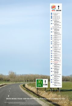 McDonald's Billboard Gives Ridiculously Lengthy Directions to a Burger King Drive-Thru