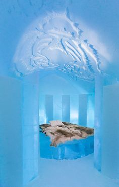 Icehotel 2015 Jukkasjarvi, Sweden ... Check out the ice Sculpture! Very cool 25th  Anniversary edition! (No pun intended)