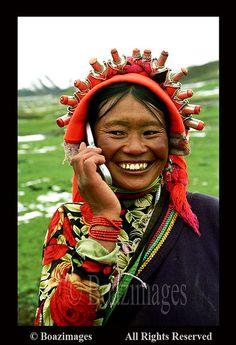 Womans face #tibet