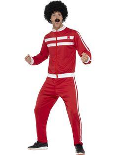 Verkkarimies. Puna-valkoiset verkkarit ovat juuri oikea naamiaisasu hullutteluun, polttareihin tai huumorimielellä tapahtuviin urheilusuorituksiin. Julmetun cool verkkariasu saattaa tosin tehdä kulmakunnan hipsterit hiukan kateellisiksi, sillä tämä on todellinen retro verkkari.