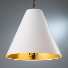 This is rather glamorous with the gold interior. Oversized Cone Paper Shade Pendant