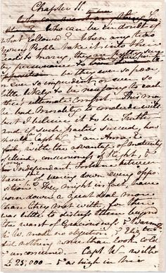 A page from Jane Austen's original manuscript of Persuasion #FavoriteAustenMoment #DearMrKnightley