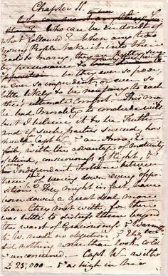 A page from Jane Austen's original manuscript of Persuasion #FavoriteAustenMoment #DearMrKnightley