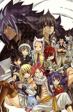 Fairy tail one year later! Manga by kodansha ---- Um ano depois da dissolvição da guilda, capa publicada pela kodansha