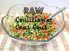 Another great cauliflower low carb recipe.. Cauliflower Cous Cous raw and vegan Gluten Free A-Z Blog