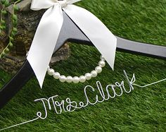 Promotion Wedding Hanger lace bow wire name Hanger por haomaihanger