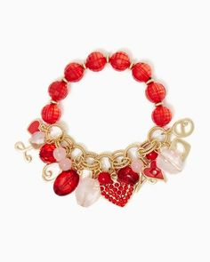 String of Hearts Stretch Bracelet | Fashion Jewelry – Valentine's Day | charming charlie