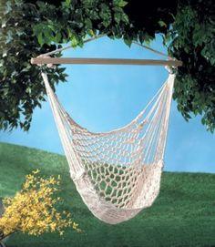 $32.00 Indoor/Outdoor Cotton Hammock Swing Chair