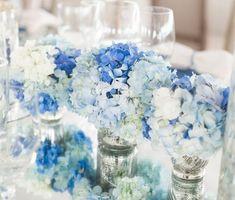 Centros de mesa para xv años color azul - Ideas para Fiestas de quinceañera - Vestidos de 15 años invitaciones de quinceañera