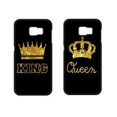King Queen Coque Cover Case for Samsung Galaxy S3 S4 S5 Mini S6 Edge A3 A5 A7 Note 2 3 4