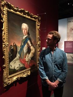 Ntl Museums Scotland Andrew Gower meets Bonny Prince Charlie at the new Jacobite exhibition in Edinburgh.