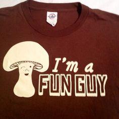 Fungi Mushroom Science Lab Shroom Pun Parody Nerd Shirt Cotton Tee | eBay