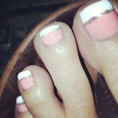 My pedicure for this week. Pink, glitter, toes, #guiltypleasure #weeklypedicure #thankshusband (lori H)