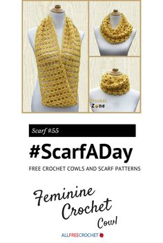 This scarf from @crochetzoneblog can be worn 3 different ways. Love it! #ScarfADay