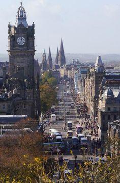 Princes Street, Edinburgh, Scotland.