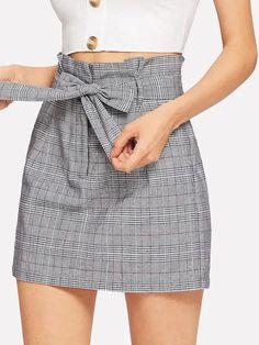 Bow Tie Waist Plaid Skirt – kidenhome skirt skirt skirt skirt outfit skirt for teens midi skirt Bow Skirt, Swing Skirt, Fitted Skirt, Dress Skirt, Waist Skirt, Cute Skirts, Plaid Skirts, Short Skirts, Mini Skirts