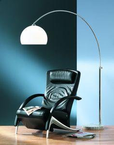 4200 - TRIO - stojanová lampa - chróm+biely akryl - 1800-2150mm
