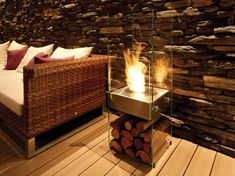 Gas fireplace for the bedroom by ecosmart- no smoke, soot, or need for a chimney