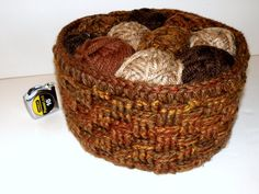 Large Crochet Basket Soft Basket Weave by CottageCoveCrochet, $62.00