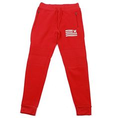 Thrill Jean's Boy's Premium Fleece Moto Jogger Pants, Medium, Red * Visit the image link more details. We are a participant in the Amazon Services LLC Associates Program, an affiliate advertising program designed to provide a means for us to earn fees by linking to Amazon.com and affiliated sites.