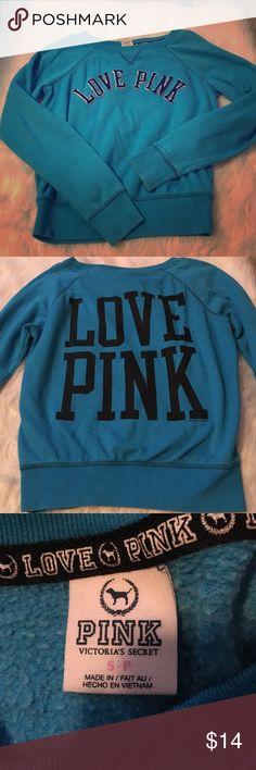 VS PINK crew sweatshirt In great condition. Size small PINK Victoria's Secret Sweaters Crew & Scoop Necks